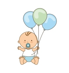 cute little baby icon vector image