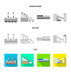 Design of production and structure icon vector