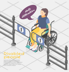 Disabled people outdoor vector