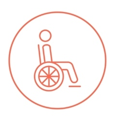 Disabled person line icon vector image vector image