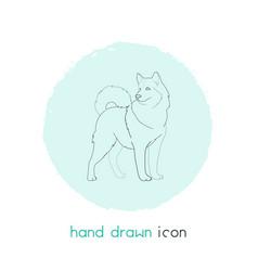 dog icon line element of dog vector image