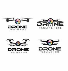 drone camera logo set vector image