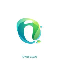 ecology lowercase letter i logo overlapping vector image