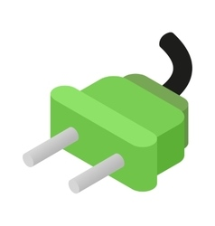 Electric plug isometric 3d icon vector