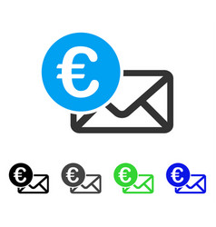 euro message flat icon vector image