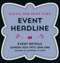 Event flyer background and frame template vector