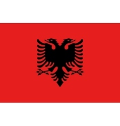 Flag of Albania in correct size and colors vector image