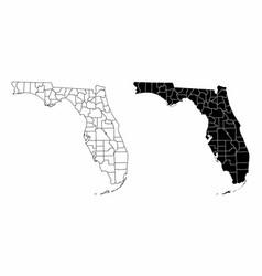 Florida county maps vector