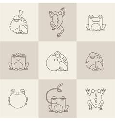 Frog characters flat vector image