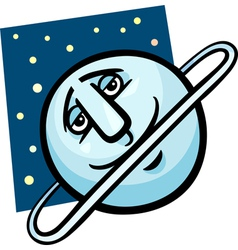 Funny uranus planet cartoon vector