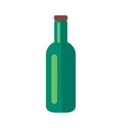 glass bottle of beer isolated vector image