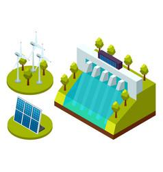green energy an eco friendly modern technology vector image