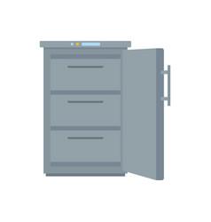 Grey freezer icon flat style vector