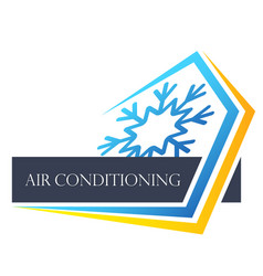 Heating house cooling symbol vector
