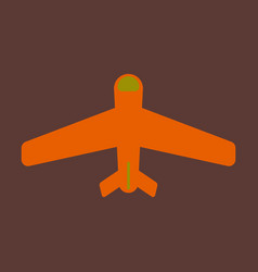 Icon in flat design aircraft vector