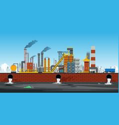 Industrial area vector