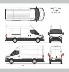 Iveco daily cargo delivery van l3h3 2014-2019 vector