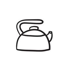 Kettle sketch icon vector
