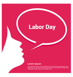 Labor day creative design with typography vector