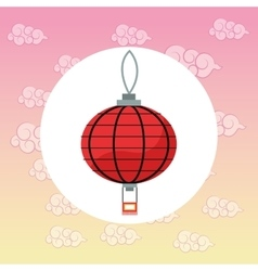 Lamp japan culture design vector