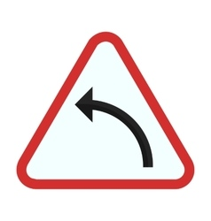Left hand curve vector