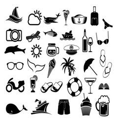 letnje ikone1 vector image