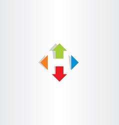 letter h arrows icon symbol logo vector image