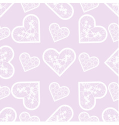 love print abstract lace hearts seamless pattern vector image