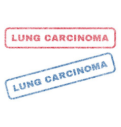Lung carcinoma textile stamps vector