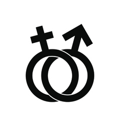 Male and female signs icon vector image