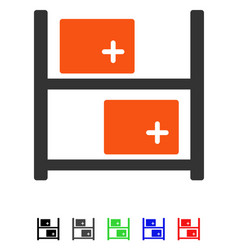 Medical warehouse flat icon vector