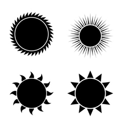 modern sun icons set on white vector image