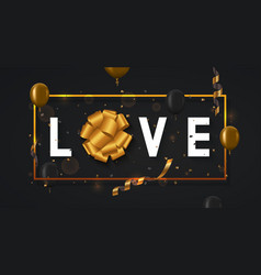 modern valentines day or love poster vector image