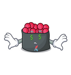 money eye ikura mascot cartoon style vector image