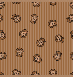 Monkey seamless pattern background ape textile vector