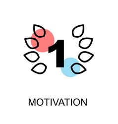 motivation icon on white background with vector image