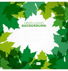 Natural background background with green vector