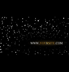 Night stars sky background vector