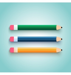 Pencil set flat design vector