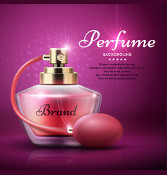 Perfume product background with sweet aroma vector