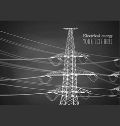 power lines on blackboard vector image
