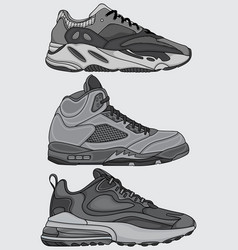 printset sneakers design vector image