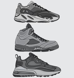 Printset sneakers design vector