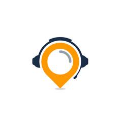 pushpin podcast logo icon design vector image