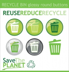 recycle bin buttons vector image