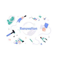 Repair tools and equipment vector
