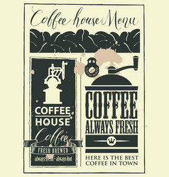 Retro set of design elements for a coffee house vector