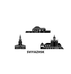russia sviyazhsk flat travel skyline set russia vector image