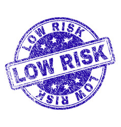Scratched textured low risk stamp seal vector