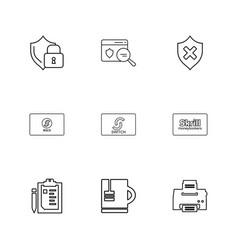 Sheild card un protected skrill printer vector
